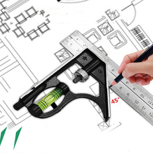 Universal 45 high precision 300 mm (12) adjustable engineer combination try square set right angle ruler P10
