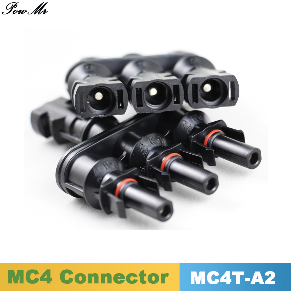 10 Pairs MC4 Connector 1 to 3 Branches Solar Panel PV Connectors 1000V DC/ UL600V DC One Male to Three Female 20A 30A PowMr 25 years quality warranty 2pairs tuv ip67 mc4 connector solar cell pv connector free shipping