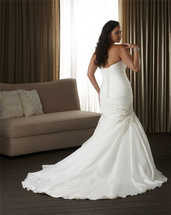 WD1537 Corset cheap plus size wedding dresses for big girl-in ...
