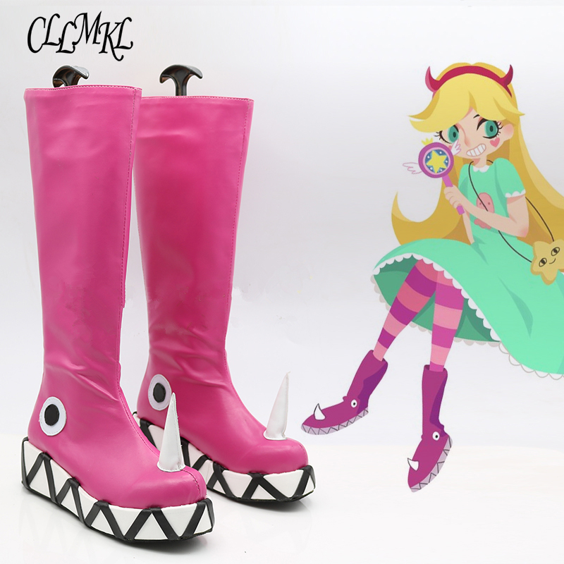 Star vs the Forces of Evil Princess Star Butterfly Magic Cosplay Shoes Boots