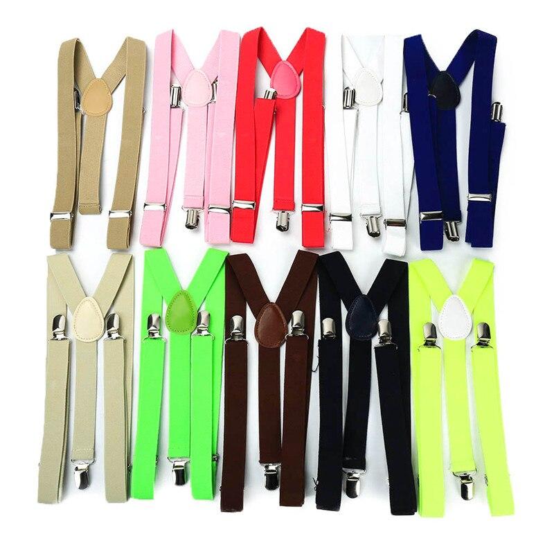 Hot Sale 25x100cm Colorful Mens Womens Unisex Clip-on Suspenders Elastic Y-Shape Adjustable Braces Solids