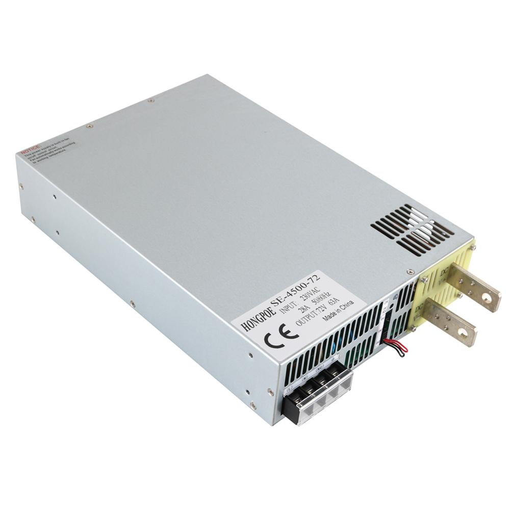4500W 72V 62.5A DC0-72V power supply 72V62.5A AC-DC High-Power PSU 0-5V analog signal control SE-4500-72 DC72V 62.5A бензиновая виброплита калибр бвп 20 4500