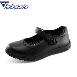 JABASIC Girls School Shoes 2019 Autumn Students Soft Leather Princess Party Girls Shoes Casual Breathable Solid Hook Loop Shoes