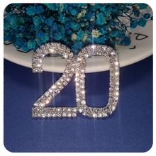 Blingbling Crystal Large Size of Number 20 Brooch Pin Jewelry