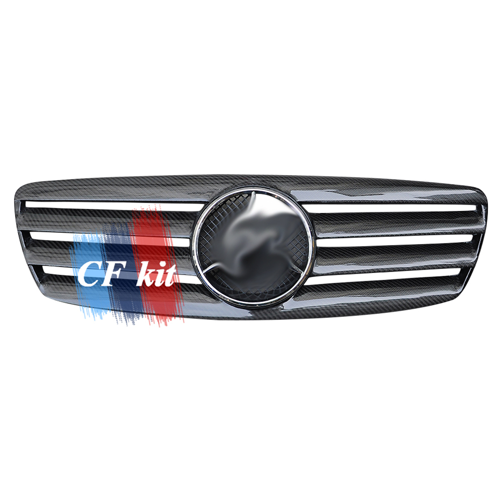 FOR <font><b>MERCEDES</b></font> BENZ <font><b>W211</b></font> Carbon Fibre Front Middle <font><b>Grill</b></font> Grille E Class 03-06 image