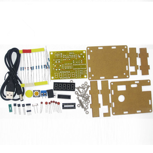 1PCS DIY Kits 1Hz-50MHz Crystal Oscillator Tester Frequency Counter TESTER Meter Case Best Price Durable DIY Led Kit
