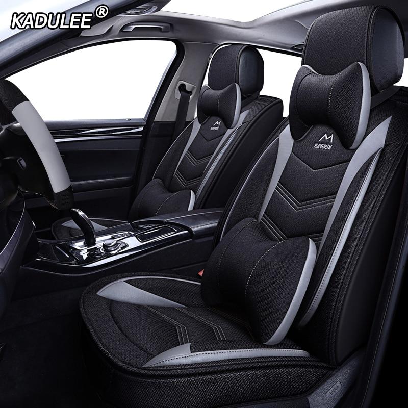 KADULEE flax car seat covers for Ford mondeo Focus 2 3 kuga Fiesta Edge Explorer fiesta