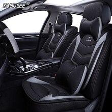 KADULEE פשתן מושב מכונית מכסה עבור פורד מונדיאו פוקוס 2 3 kuga פיאסטה קצה Explorer פיאסטה fusion רכב אביזרי רכב מושב