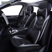 KADULEE flax car seat covers for Ford mondeo Focus 2 3 kuga Fiesta Edge Explorer fiesta fusion car accessories Automobiles Seat