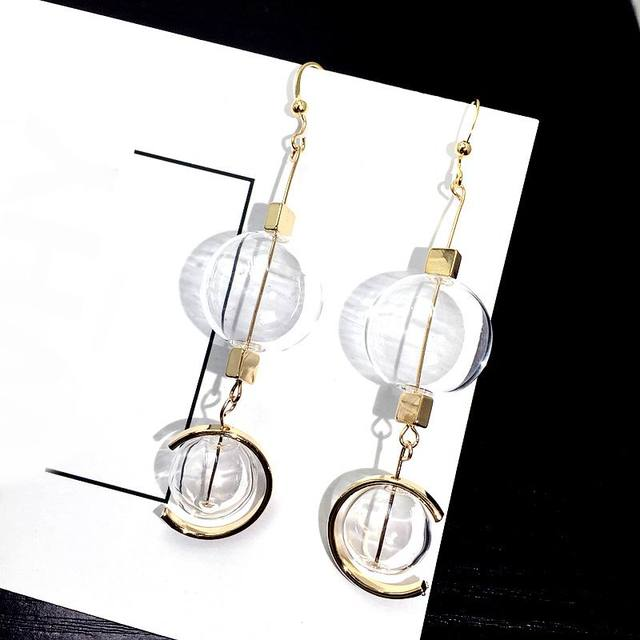 New Transparent Ball Long Earrings Women Statement Earrings Fashion Jewelry Party Street Style Bijoux Accessories.jpg 640x640 - New Transparent Ball Long Earrings Women Statement Earrings Fashion Jewelry Party Street Style Bijoux Accessories