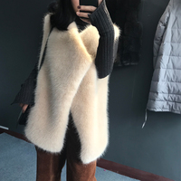 Women Faux Fur Vest Winter and Autumn Waistcoat High Quality