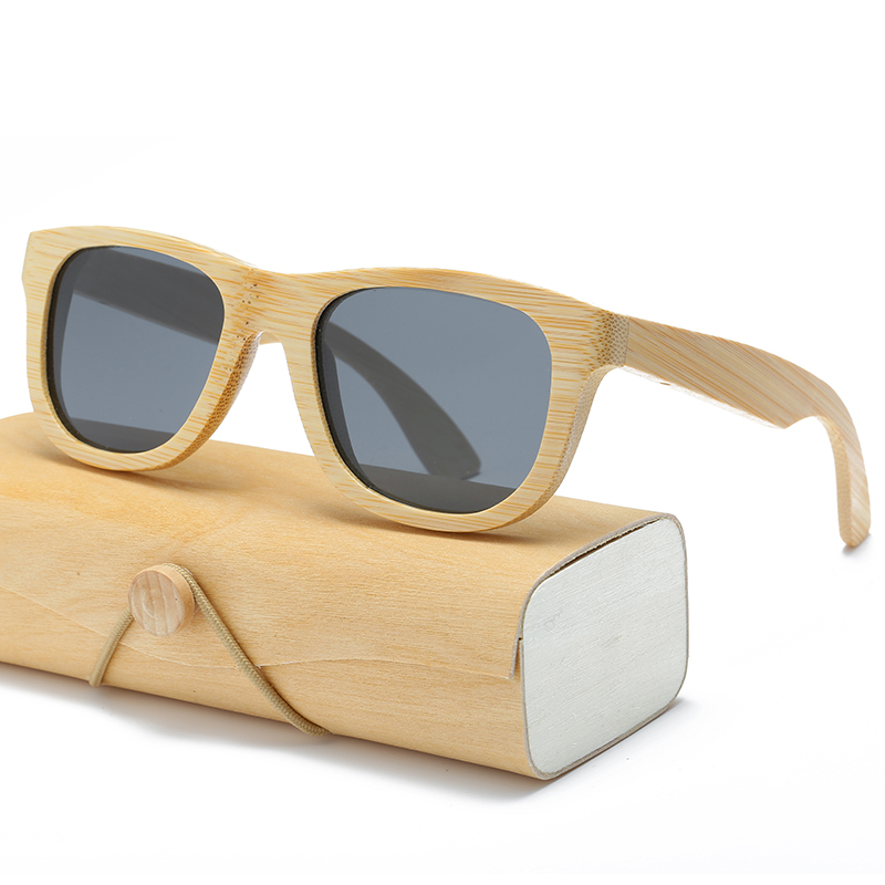 Holz Sonnenbrille Männer frauen platz bambus Frauen für männer frauen spiegel Sonnenbrille retro de sol masculino 2017 Handgemachte mit fall
