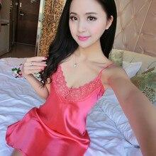 Silk Satin Ladies Nightwear Womens Kimono Robe Sexy Lingerie Nightgown Sleepwear Night Gown Sleep Dress Babydoll Nightie 5 Color