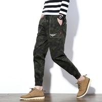 New 2017 Autumn Camouflage Men Pants Casual Elasitc Waist Cotton Mens Joggers Pant Plus Size 5XL
