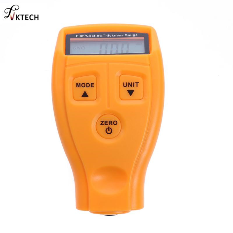 GM200 Coating Painting Thickness Gauge Tester Ultrasonic Film Mini Coating Car Paint Thinner Gauge Tools English Russian Manual digital film coating thickness gauge mini ultrasonic automotive lcd car coat painting thickness tester width measure meter gm200