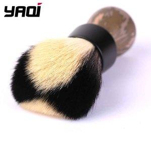 Image 2 - Yaqi Target Shot White And Black Synthetic Fibre Shaving Brush