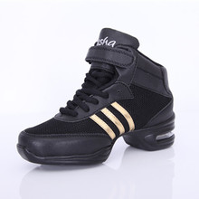 Free Shipping Breathable Mesh Black Air Curshion Jazz Dance Shoes Dance Sneakers Fittness Outdoor Zapatilla De Deporte