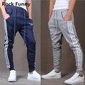 Mens Moda Harem Pantalones casual Pantalones Gota Entrepierna Pantalones de Chándal Para Hombre Pantalones Chandal hombre
