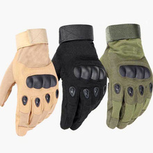 Outdoor Sports Tactical Gloves Full Finger For Hiking Riding Cycling Army Military Mens Armor Protection Shell