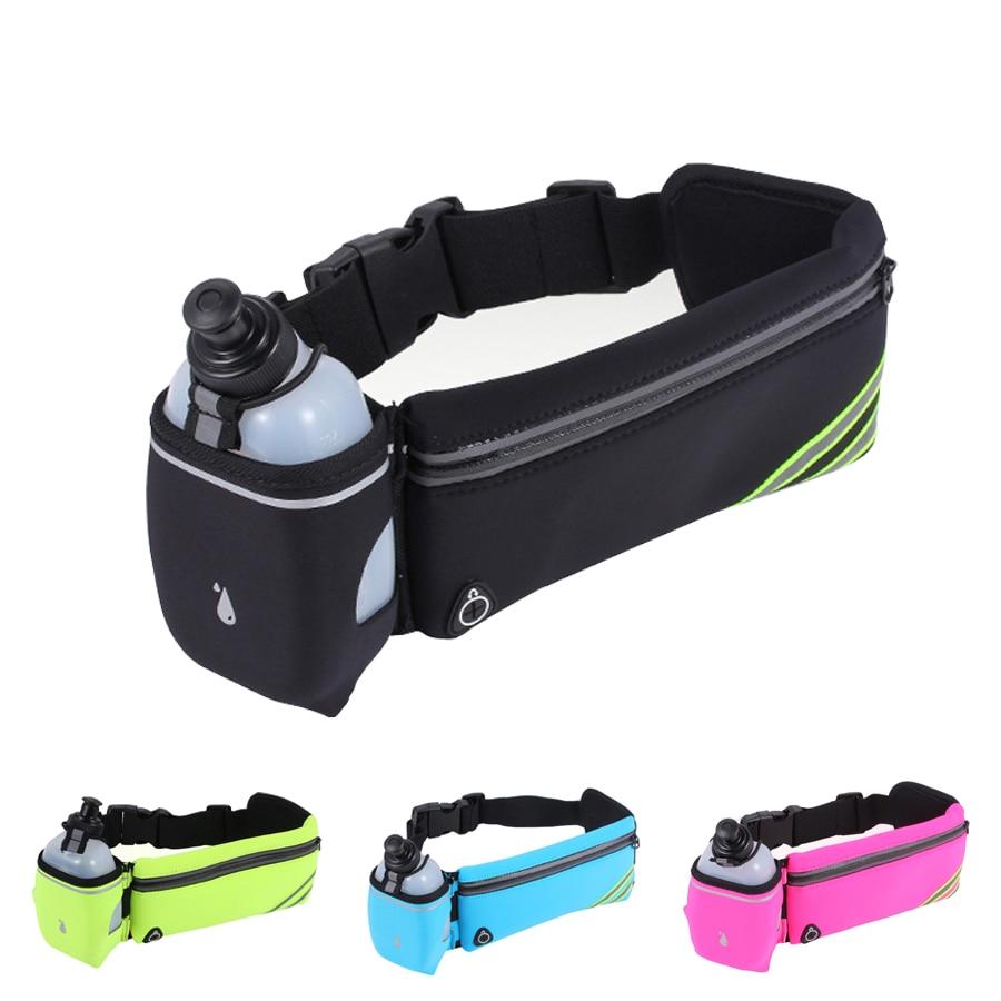 NEWBOLER Men's Running Fanny Pack Sports Belt Bag Lovers Walking Camping Cycling GYM Waist Bags Phone Holder Running Accessories