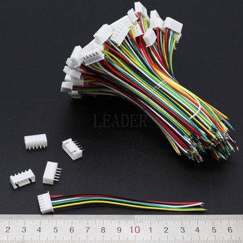 500 pcs/lot JST XH 5S Lipo Balance Lead Extension Charge Wire 100mm 26AWG with Connector Pins