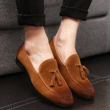2016 High Quality Leather Men Flats Shoes Brogues slip on Bullock Business Men Oxfords Shoes Men Dress Shoes EPP158