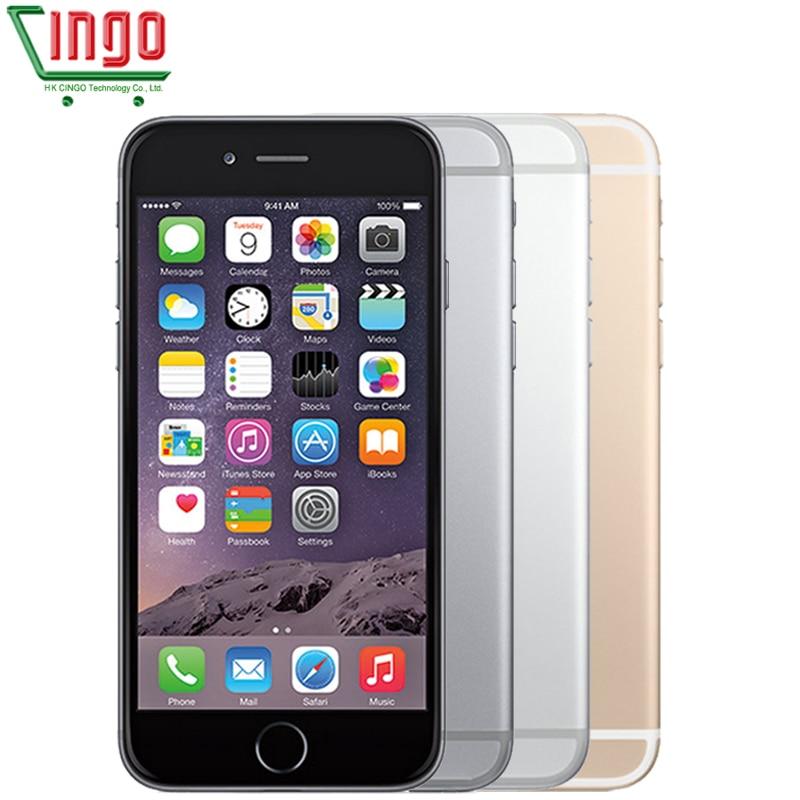 Ecouteurs earpod Apple iPhone 6 Plus IOS 16/64/128 gb ROM 5.5 pouce IPS 8.0MP D'empreintes Digitales 4g LTE Téléphone Intelligent WIFI GPS Utilisé iPhone 6 plus