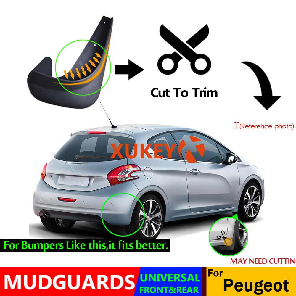Rubber Moulded Universal Fit Car MUDFLAPS Mud Flaps Fits Peugeot 307