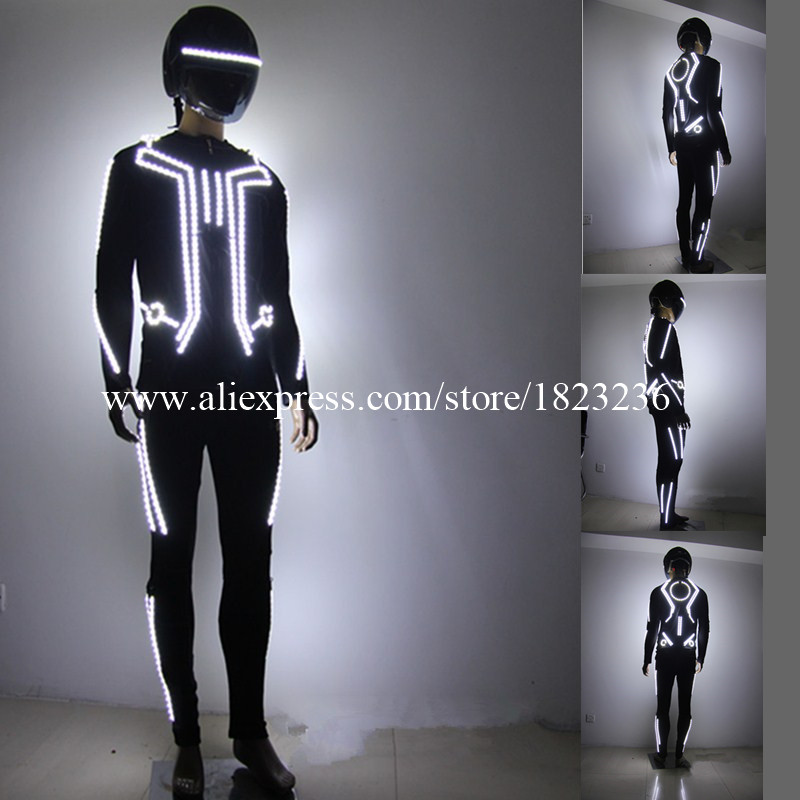 New Design LED Robot Costume LED Dance Performance Luminous Clothing Suits For Men Women DJ Show Light Clothing