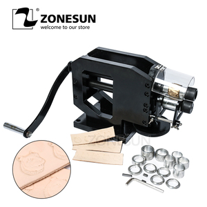 Image 1 - ZONESUN Leather Stamping Machine Cold Pressing Machine Embossing Repeating Pattern For Leather Belt Guitar Straps Logo Embosser