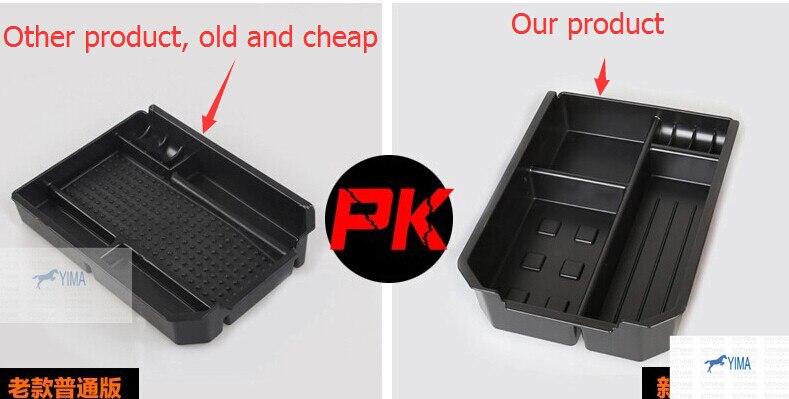 Prix pour Plus grand! intérieur Noir Central De Stockage Palette Accoudoir Box Container Pour Toyota Rav4 Rav 4 2013 2014 2015