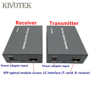 Image 3 - HD1080p DVI Extender Sender Transmit/Receive DVI+Audio Signal by Single Mode Fiber Cable 2KM LC Connector For CCTV Free Shipping
