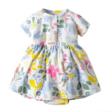 Oramgemom official store2019 summer baby dress for girls baby clothing 6 9 months 12.18.24M infant dress flower newborn costume