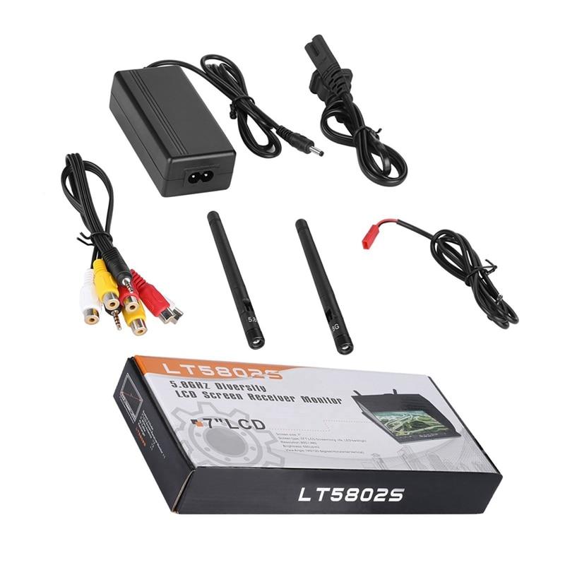 7 zoll Dvr Fpv Lcd Monitor 5,8G 40Ch Diversity Empfänger Build-In Batterie Für Dji Rc