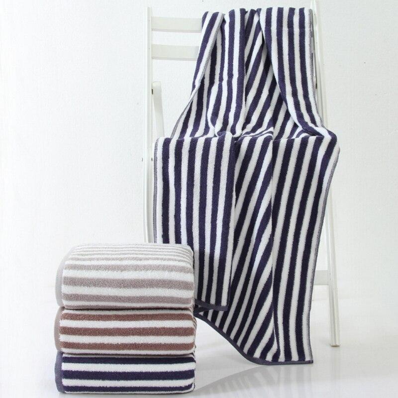 Toalla de playa toallas de baño japonés raya espesada súper absorbente 70x140 cm Hotel Baño de regalo deportes gimnasio viajar