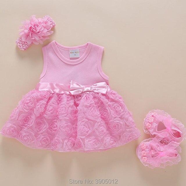 c4afc5b79eb 2018 Real Baby Dress Clothes Sleeveless Female Summer Three Four Months 3 6  Newborn 0-