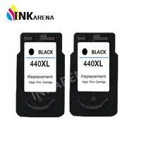 2PCS Black PG440 PG 440 PG 440 XL Ink Cartridge For Canon PIXMA MX374 MX394 MX434