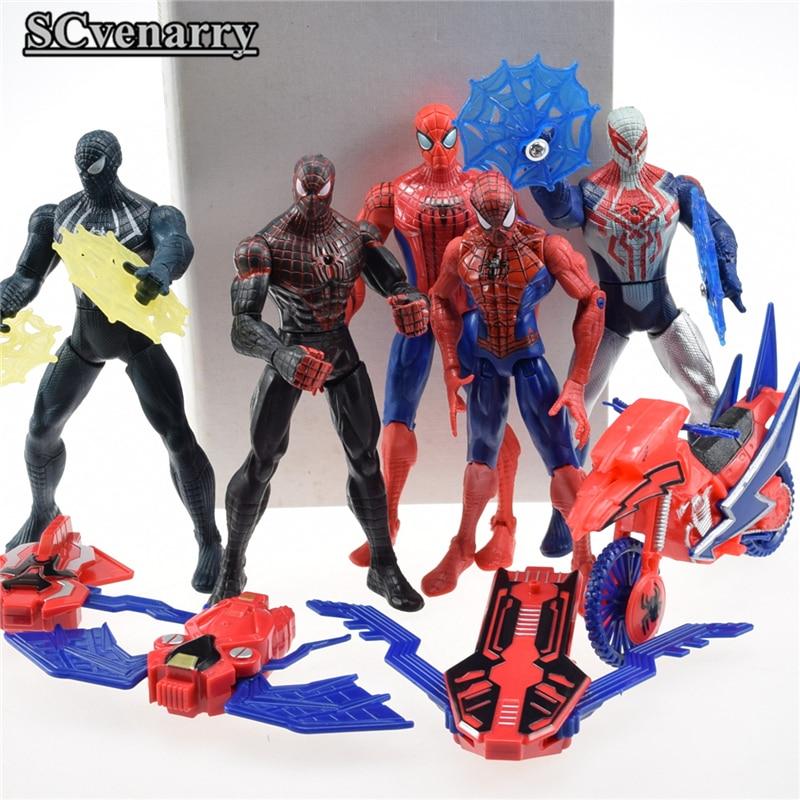 5pcs/set Superheroes Avengers Spider Man Action Figures ...