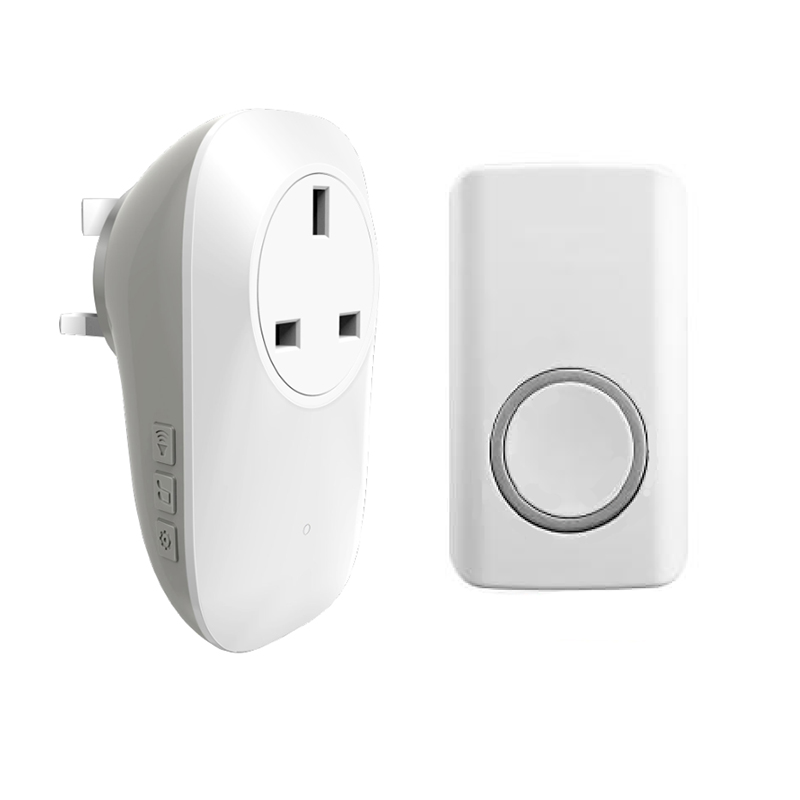 Self Powered Waterproof Wireless Doorbell Self-powered Doorbell With Socket No Battery EU Or US Plug Smart Door Bell