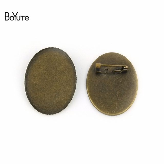12edd47dd BoYuTe 10Pcs Oval 30*40MM Cabochon Base Blank Tray Settings Oval Antique  Bronze Plated Vintage