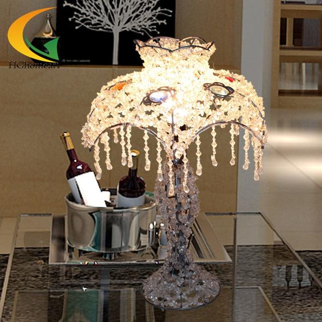 Superieur Free Shipping Continental Festive Handmade Beaded Lamp Shade Lighting  Pastoral Princess Purple Crystal Table Lamp