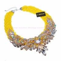Fashion Acrylic Jewelry Handmade Resin Beed Choker Statement Bib Pendant Necklac