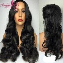 Grade 8A Brazilian virgin Human Hair body wave Glueless Full Lace Wigs wavy human Hair Glueless Lace front wigs for black women