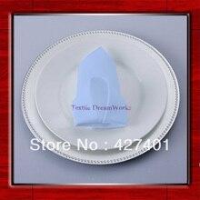 Высококачественная светло-голубая полиэфирная прозрачная Салфетка 50x50 см/салфетка для стола/гостиничная салфетка/салфетки обеденные(Прямая с фабрики