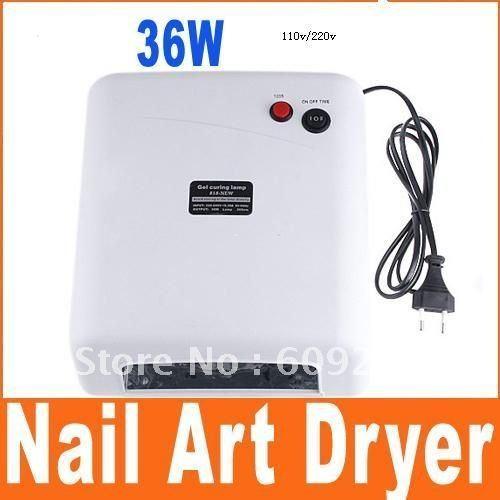 220V/110V 36W Nail Art UV Lamp Gel Curing Tube Light Dryer