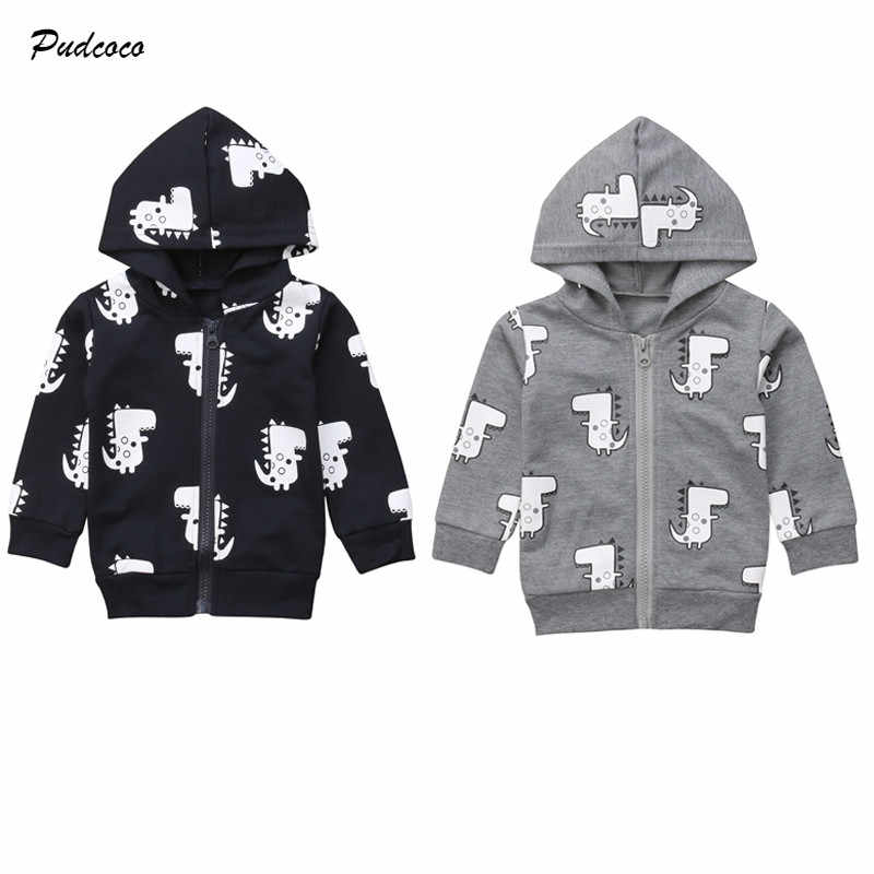 54767a11f Kids Boy Hooded Coat Jacket Warm Autumn Hoodies Sweatshirt Cartoon  Outerwear Children Clothes 0-3Y