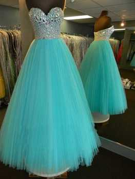 Real Sample vestidos de gala Sweetheart Glitter Bodice Draped Rhinestone Beaded Blue Aqua Prom dress Girls prom Dresses 2019