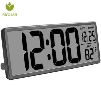 13.8 inch Large Digital Alarm Clock Jumbo Digital Wall Table Clocks LCD Display Alarm Snooze Calendar Indoor Temperature clock digital clock