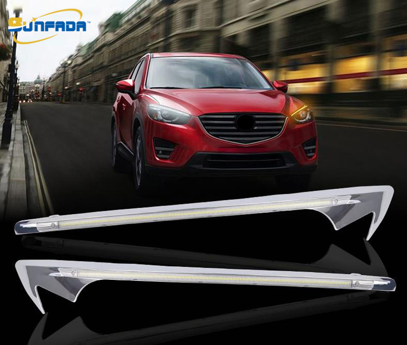 SUNFADA Car Headlight Lamp Light Updated Modification LED DRL Car Covers For MAZDA CX 5 CX5