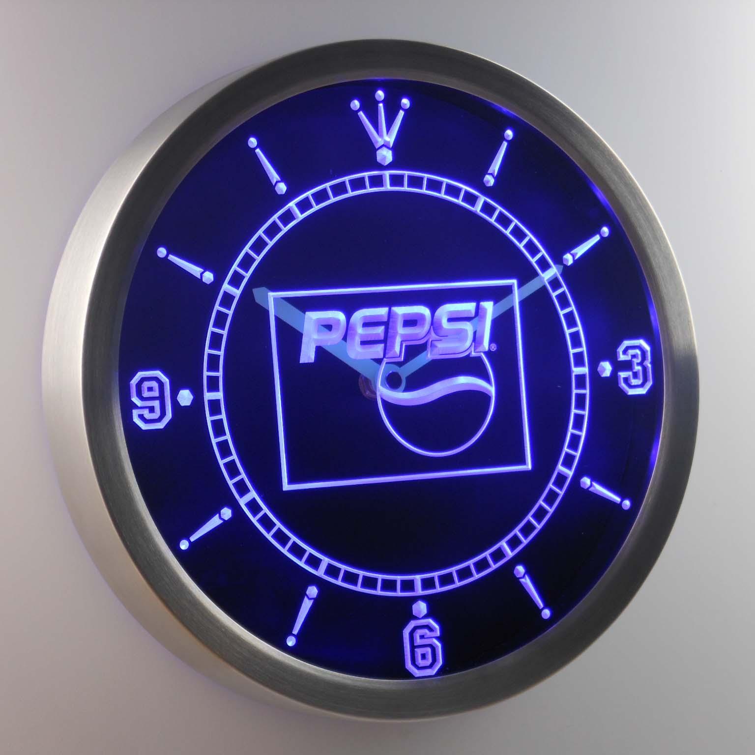 nc0095 Pepsi Neon Sign LED Wall Clocknc0095 Pepsi Neon Sign LED Wall Clock